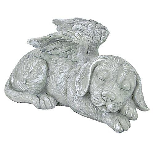 Design Toscano Dog Angel Pet Memorial Grave Marker Tribute Statue, 10 Inch, Polyresin, Stone Finish by Design Toscano (Image #1)