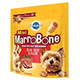 PEDIGREE MARROBONE Real Beef Flavor Toy/Small Snacks for Dogs 15 Ounces (2 Pack)