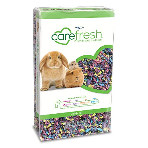 carefresh Complete Natural Paper Bedding Confetti, 10L 10 Liter Small Animal Bedding