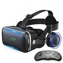 Colorfuldays 3D VRゴーグル VR ヘッドセット 4-6インチスマホ対...