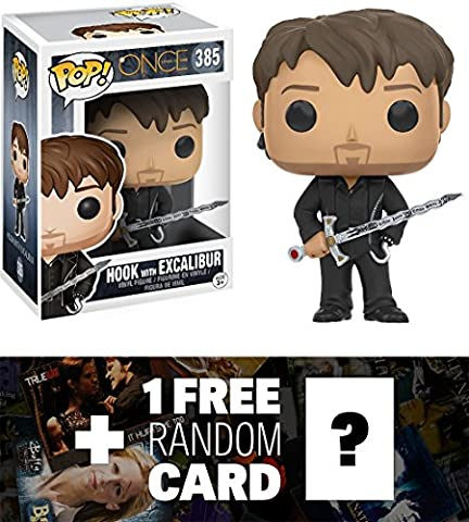 Hook w/ Excalibur: Funko POP! x Once Upon A Time Vinyl Figure + 1 FREE American TV Themed Trading Card Bundle (New Funko Pop Supernatural)