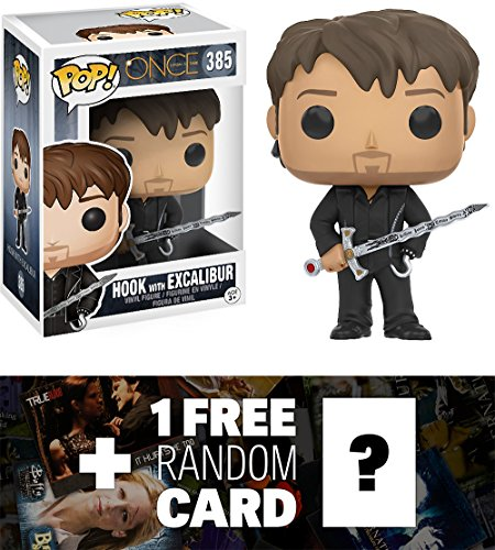 Hook w/ Excalibur: Funko POP! x Once Upon A Time Vinyl Figure + 1 FREE American TV Themed Trading Card Bundle (Evil Fairy Tale Characters)