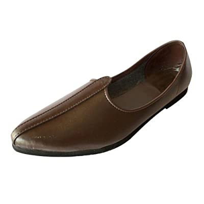 Step n Style Mens Brown Jalsa Shoes Indian Shoes Jutti Nagra Shoes Casual Shoes | Loafers & Slip-Ons