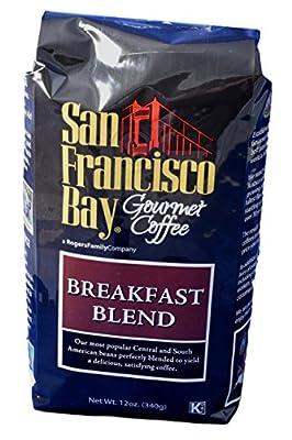 San Francisco Bay Coffee Breakfast Blend Whole Bean, 12-Ounce