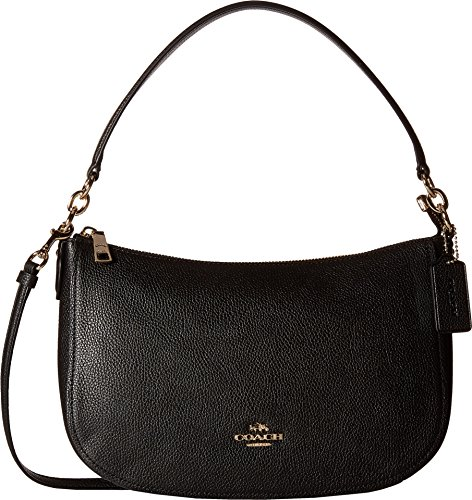 COACH Women's Pebble Chelsea Crossbody Li/Black One Size