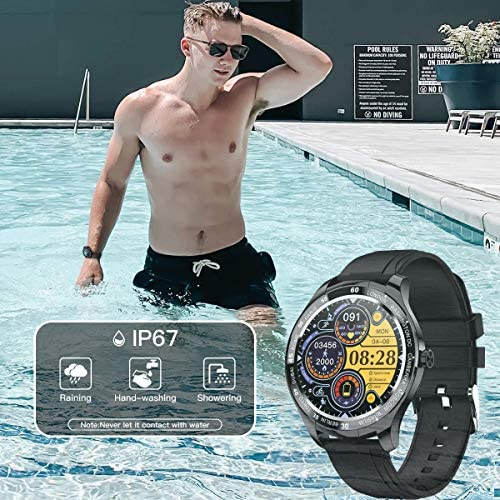 Smart Watch, Fitness Tracker with Heart Rate Monitor, IP68 Waterproof Smartwatch 1.3″ Touch Screen, Activity Tracker Step Counter Sleep Monitor Message Call Pedometer for Women and Men 51Qj8X   zL