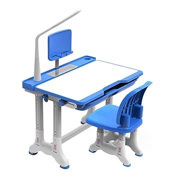 Juegos de mesas y sillas Mesa de Estudio para niños en el hogar, Escritorio para Estudiantes, ...