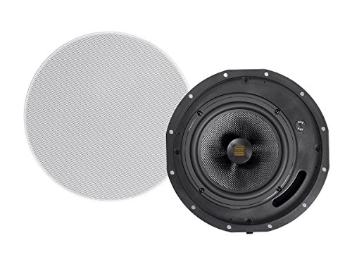 Monoprice Amber Ceiling Speakers 8-inch 2-way Carbon Fiber with Ribbon Tweeter (pair) by Monoprice