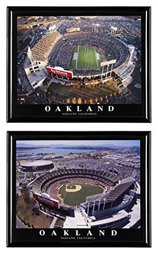 Oakland Raiders Football and Oakland Athletics Baseball Oakland-Alameda County Coliseum - Set of 2