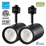 2 PACK 17.5W (85W Equiv.) Integrated CRI90+ LED Black Track Light Head, Dimmable 38° Spotlight Track Light, 1200lm ENERGY STAR ETL-Listed for Accent Task Wall Art Exhibition Lighting, 4000K Cool White