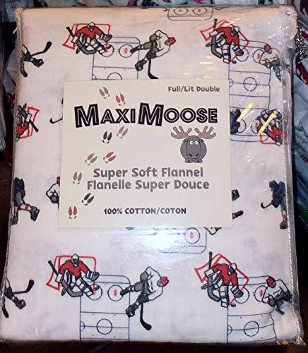 MAXIMOOSE キッズホッケー選手フランネルシーツセット ツインサイズ 100%コットンフランネル