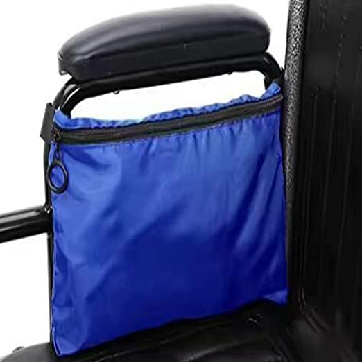 Bolsa para silla de ruedas - Bolsa para silla de ruedas Bolsa de almacenamiento lateral Canasta de almacenamiento Organizador de asas para ancianos,personas ...