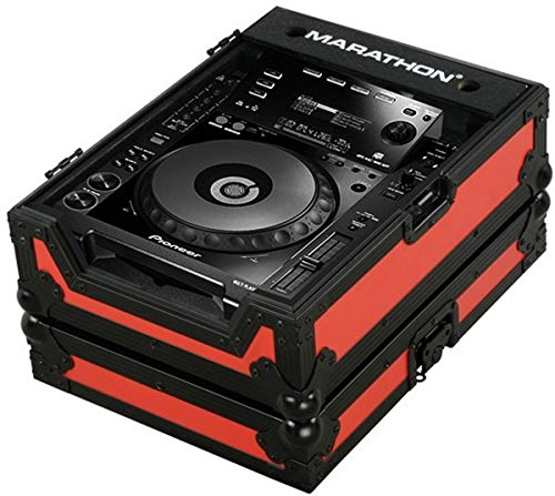 [해외]마라톤 비행로 MA-CDJ900Blkred 레드 - 블랙 시리즈 - 파이오니어 CDJ900 용 케이스 및 기타 대형 CD CD 턴테이블/Marathon Flight Road MA-CDJ900Blkred Red - Black Series - Case for Pioneer CDJ900, And All Other Large Format CD Digital Tur...