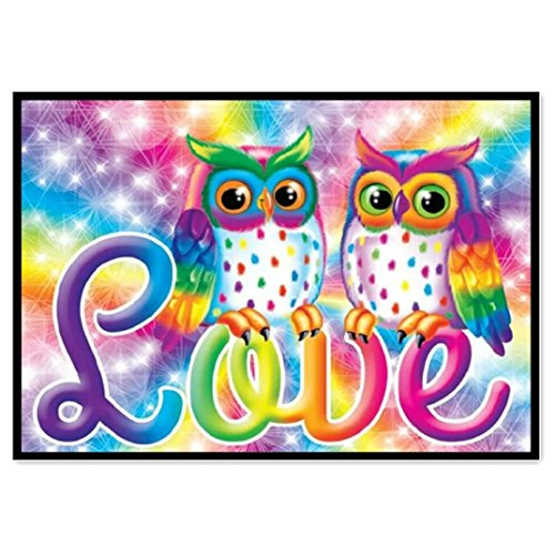 5D Diamond Bead Painting Kits Diamond Painting Stitch Owl with Letters Wall Painting Embroidery Art Hobby Decor (30X25CM) (Best Embroidery Stitch For Letters)