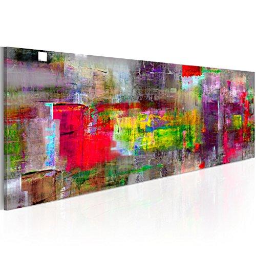 Bilder 120x40 cm - 3 Farben zur Auswahl - XXL Format - Fertig Aufgespannt - TOP - Vlies Leinwand - 1 Teilig - Wand Bild - Kunstdruck - Wandbild - Abstrakt a-A-0217-b-b 120x40 cm B&D XXL
