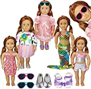 AMETUS Doll Clothes and Accessories for Barbie Dolls