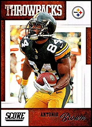 cheap for discount 7a58f 65a66 Amazon.com: 2019 Score Throwbacks #20 Antonio Brown ...