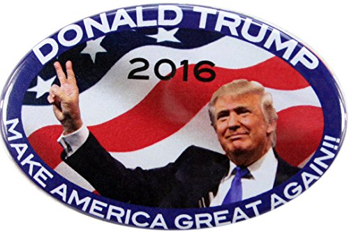"""2016 DONALD TRUMP """"MAKING AMERICA GREAT AGAIN"""" for PRESIDENT OVAL CAMPAIGN BUTTONS, from PASADENA SPORTS - USA"""