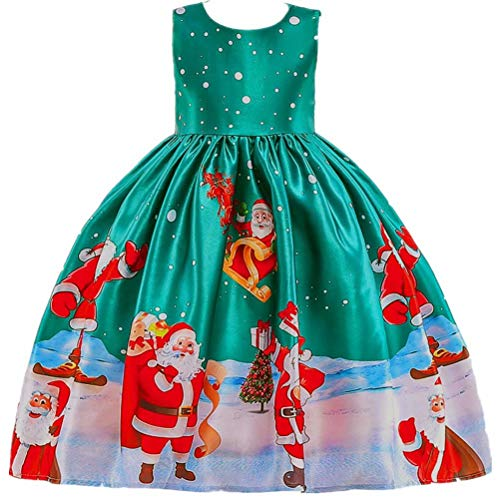 Girls Dress Sleeveless Christmas Snowman Holiday Party Size 3-10