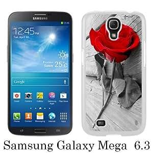 Great Quality Samsung Galaxy Mega 6.3 I9200 Case ,Rose on the Board White Samsung Galaxy Mega 6.3 I9200 Cover Case Hot Sale Phone Case Unique And Beatiful Designed