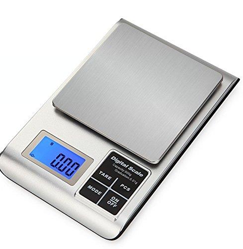 Báscula de cocina digital de alta precisión, 0,01 g/0,1 g, balanza de pesaje de alimentos portátil electrónica, escala de bolsillo: Amazon.es: Hogar