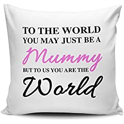 To The World You May Just Be A Mummy Pillow Covers 18 x 18 Decorative Pillows Best Christmas Gifts for Mom