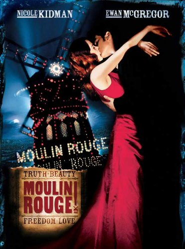 Pop Culture Graphics Moulin Rouge Poster Movie H 11x17 Nicole Kidman Ewan McGregor John Leguizamo Jim Broadbent