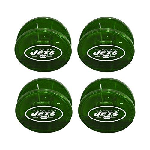 Boelter Brands NFL New York Jets Magnetic Chip Clip, 4-Pack
