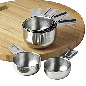 Measuring Cups Stainless Steel 6 Piece Stackable Set by KitchenMade