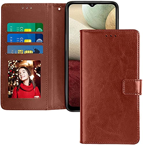 mobcruz Brown Leather Magnetic Vintage Flip Wallet Case Cover for Moto C Plus