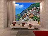 wall26 - Travel in Italy Series - Positano - Removable Wall Mural | Self-adhesive Large Wallpaper - 100x144 inches