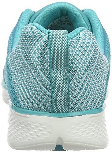 Skechers Ladies Go Walk 4 Sneaker, Black White (bianco / Turchese)