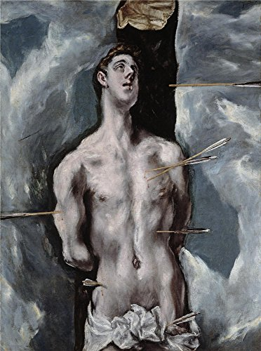 'El Greco Saint Sebastian 1610 14 ' oil painting, 16 x 22 inch / 41 x 55 cm ,printed on high quality polyster Canvas ,this Beautiful Art Decorative Canvas Prints is perfectly suitalbe for Kids Room artwork and Home artwork and (Kurt Angle Costume)