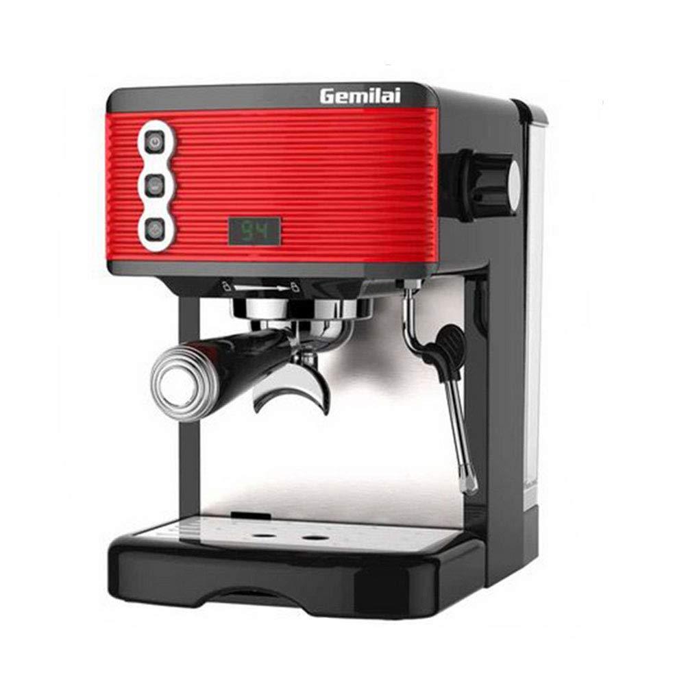 JINPENGRAN Coffee Machine, Steam Pump Semi-Automatic Coffee Machine, Cappuccino, Latte, Flower Tea, Large Capacity