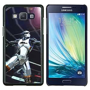 Halcón Negro Baloncesto- Metal de aluminio y de plástico duro Caja del teléfono - Negro - Samsung Galaxy A5 / SM-A500