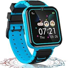 Kids Smart Watch Boys Phone Camera Selfie SOS Calling Smartwatch for Kids Waterproof IPX5 Games Touch Screen Alarm Sound…