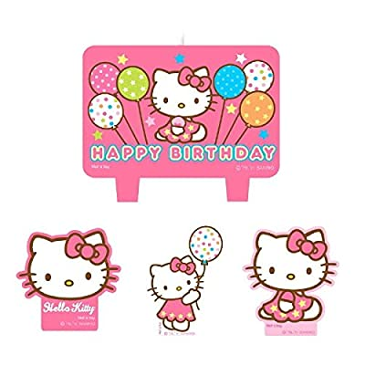 amscan Mini Molded Cake Candles | Hello Kitty Balloon Dreams Collection | Party Accessory: Toys & Games