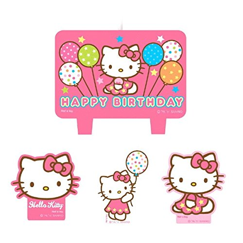 amscan Mini Molded Cake Candles | Hello Kitty Balloon Dreams Collection | Party Accessory ()