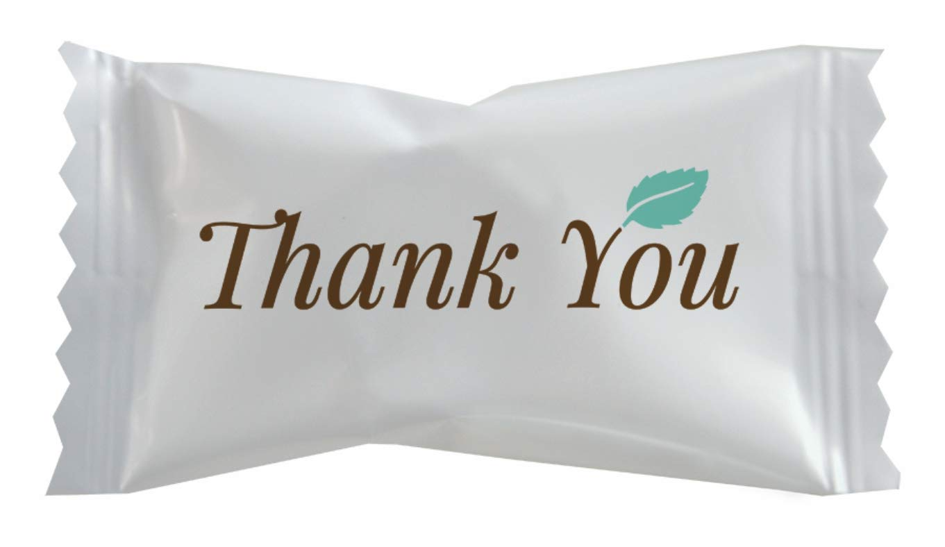 Hospitality Mints -Thank You Buttermints - Case of 1000 by Hospitality Mints