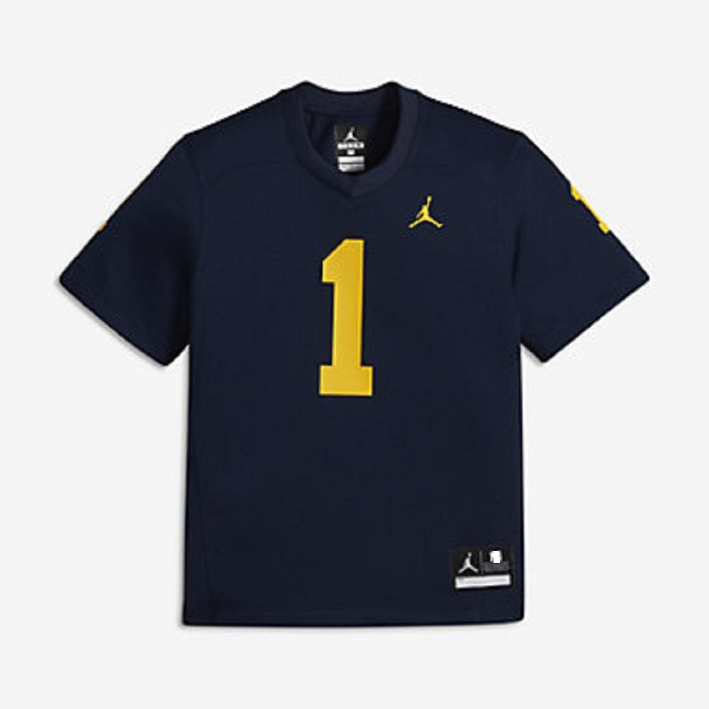 the best attitude fbb13 78631 Nike Youth Air Jordan University of Michigan Wolverines ...