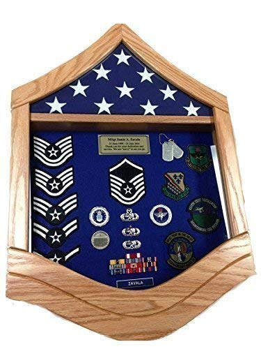 E-7 Air Force Master Sergeant (MSgt) Shadow Box/Retirement Display (Air Force Shadow Boxes For Military Retirement)