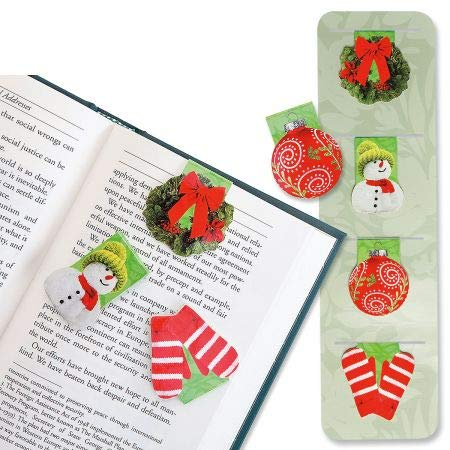 (Christmas Magnetic Bookmarks- Set of 8)