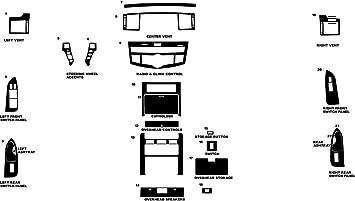 Rdash Dash Kit Decal Trim for Infiniti G37 2008-2009 Coupe // Convertible Black - Carbon Fiber 3D