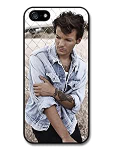 Louis Tomlinson Denim Jacket Tatoo 1D One Direction Case For Ipod Touch 4 Cover