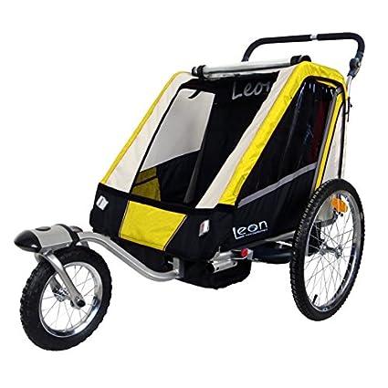 Leon paplioshop plegable bicicleta colgante Buggy con rueda delantera, para 1 o 2 niños, una puerta, New Giallo: Amazon.es: Deportes y aire libre