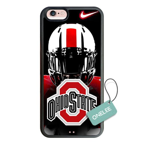 """iPhone 6S Plus Case, Onelee NACC Series Case for iPhone 6S Plus, Ohio State Buckeyes iPhone 6S Plus Case 5.5"""" / Black Soft Rubber"""