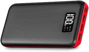 Aikove Power Bank 24000mAh Cargador Móvil Portátil Batería Externa con Entrada Doble y 3 Puertos de Salida USB & Pantalla Digital para iPhone X/8/8Plus, iPad Samsung Galaxy S9/S8, Tablets y mucho más