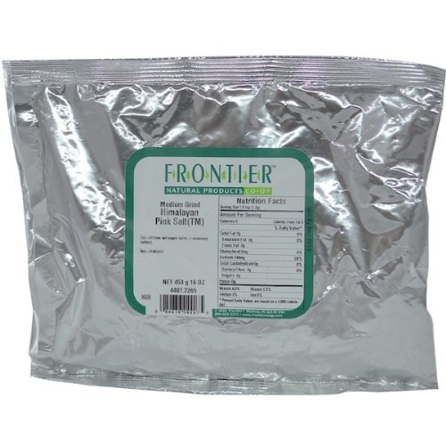 Frontier Herb Himalayan Pink Medium Grinder Salt, 1 Pound - 1 each. by Frontier