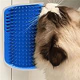 Pet Cat Self Groomer Brush Wall Corner Grooming Massage Comb Toy with Catnip
