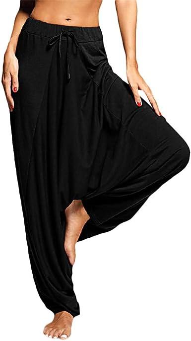 Womens Baggy Casual Trousers Ladies Loose Harem Long Fitted Yoga Pants Leggings
